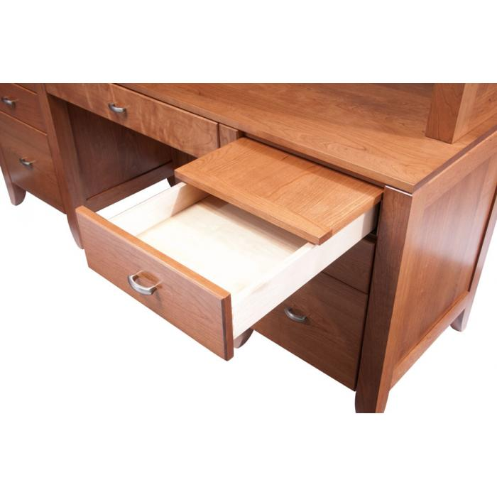 Simply Amish Justine desk drawers opened