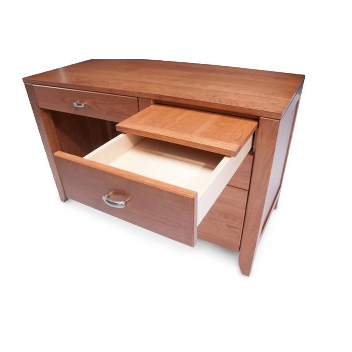 Simply Amish Justine small desk drawer opened