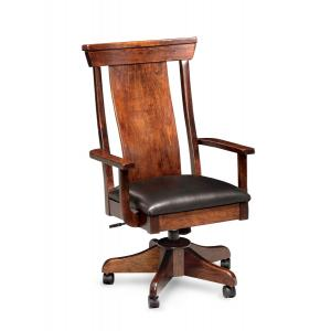 Simply Amish B&O Railroad rolling office chair