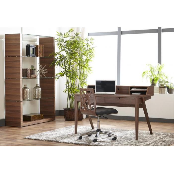 Eurostyle Sophia rolling office chair and desk in an office