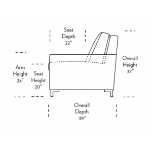 Bryson Comfort Sleeper Dimensions