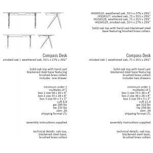 Nuevo Compass desk dimensions