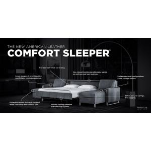New American Leather Comfort Sleeper Advertisement showing the options and features available