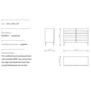 Nuevo Prana storage cabinet/dresser dimensions